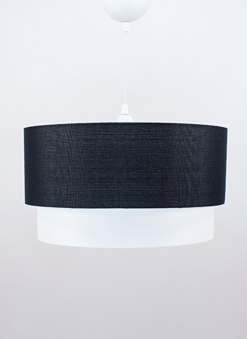 Crea Lighting Doubleshade Large Sarkıt 40cm-3 Ampul Siyah